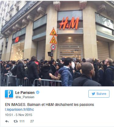 Le Parisien/ BalmainxH&M